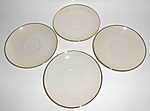 Franciscan Pottery China Carmel Set/4 Saucers Mint