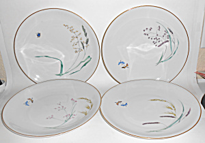 Heinrich & Co Porcelain Butterfly W/gold Dinner Plate