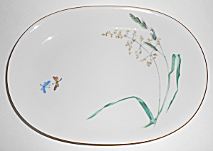 Heinrich & Co Porcelain Butterfly W/gold Small Platter
