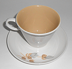 Franciscan Pottery Whitestone Fan Tan Cup/saucer Mint