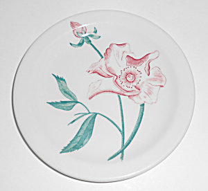 Iroquois Restaurant China Floral Red Rose Bread Plate
