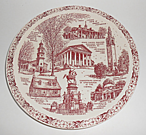 Vernon Kilns Pottery Historical Virginia State Plate! (Image1)
