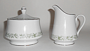 Mikasa Fine China Montclair Creamer/sugar Bowl Set
