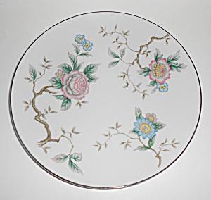 DW Fine Japan Porcelain China Floral Tree Dinner Plate! (Image1)