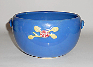 Coors Pottery Rosebud Blue Medium Pudding Bowl