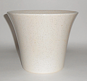 Bauer Pottery 7in White Speckle Spanish Flower Pot