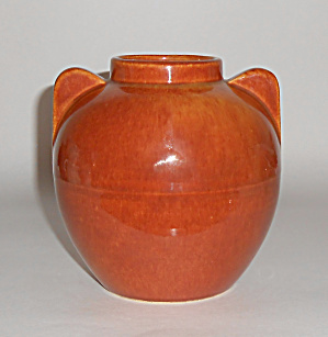 Bauer Pottery Hi-fire #219 Red/brown Vase Mint