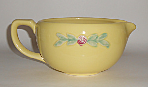 Coors Pottery Rosebud Yellow Medium Handled Batter Bowl
