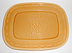 Franciscan Pottery Wheat Summer Tan Platter Mint