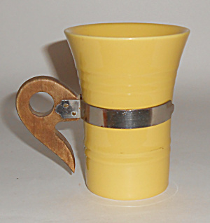 Pacific Pottery Hostess Ware Yellow Tumbler W/handle