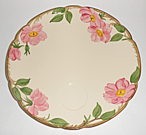 Franciscan Pottery U.s.a. Desert Rose Snack Plate Mint