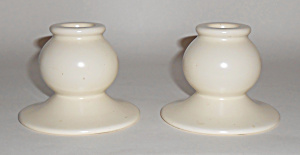 Franciscan Pottery El Patio Ivory #133 Candlesticks