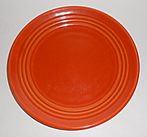 Bauer Pottery Ring Ware Orange Lunch Plate Mint