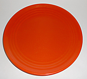 Bauer Pottery Early Ring Ware Orange Lunch Plate Mint
