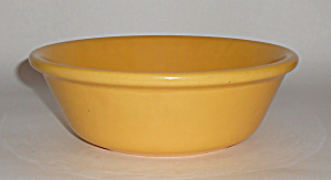 Bauer Pottery Plain Ware Yellow #3 Pudding Bowl