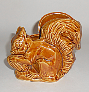 Mccoy Pottery Brown Squirrel Planter