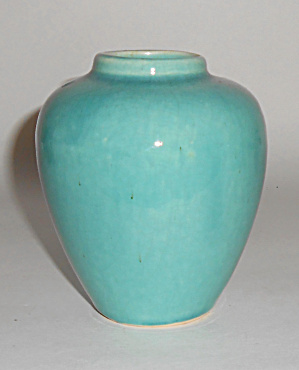 Nelson Mccoy Art Pottery Turquoise Mini Oil Jar Mint