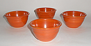 Pacific Pottery Hostess Ware Apache Red Set/4 Custards