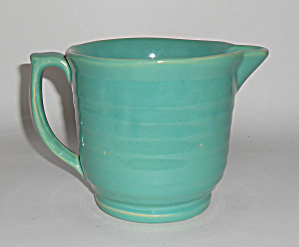 Bauer Pottery Ring Ware Jade Beating Bowl Pitcher Mint
