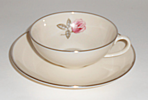 Franciscan Pottery Fine China Encanto Rose Flat Cup/sau
