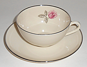 Franciscan Pottery Fine China Encanto Rose Cup/saucer