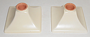 Catalina Pottery Capistrano Art Ware Pair Candlesticks