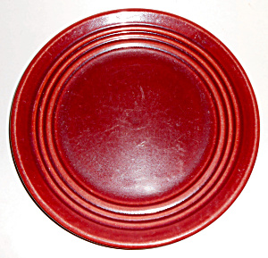 Bauer Pottery Ring Ware Burgundy 9-3/8in Plate