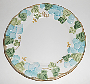 Metlox Pottery Poppy Trail Sculptured Grape Salad Plate