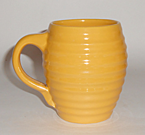 Bauer Pottery Ring Ware Yellow Barrel Mug Mint