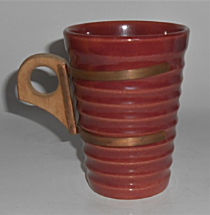 Bauer Pottery Ring Ware Rare 12 Oz Burgundy Tumbler (Image1)