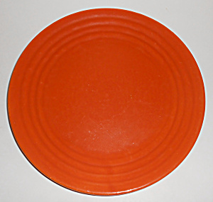 Bauer Pottery Ring Ware 1st Period Orange Lunch Plate