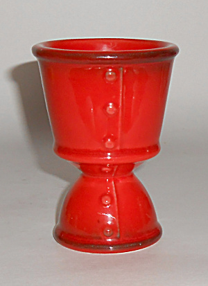 Metlox Poppy Trail Pottery Red Rooster Egg Cup