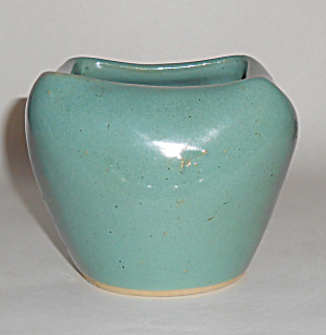 Zanesville Stoneware Pottery Gloss Green F-2 Art Bowl