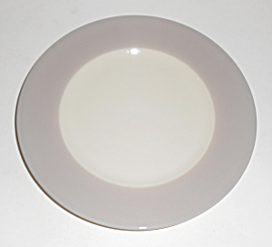 Flintridge China Bon-lite Grey Bread Plate Mint