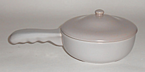 Franciscan Pottery El Patio Grey Handled Baker/lid Mint