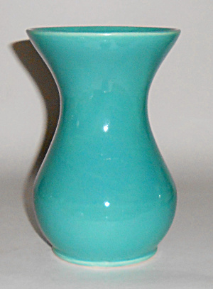 Bauer Pottery Fred Johnson Turquoise Vase Mint