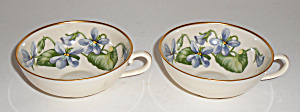 Franciscan Pottery Fine China Olympic Pair Cups Mint