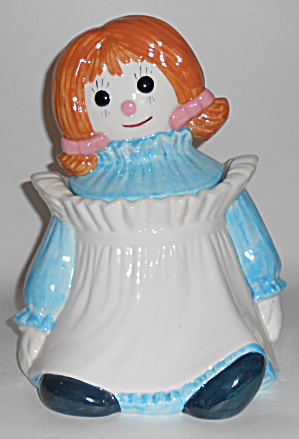 Metlox Pottery Poppy Trail Rag Doll Girl Cookie Jar