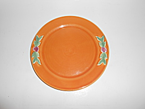"Coors Pottery Rosebud 9"" Orange Plate Mint"
