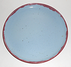 Winfield China Pottery Early Gabriel Blue/red Plate
