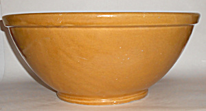 Bauer Pottery Yellow Plain Ware #2 Mixing Bowl Rare