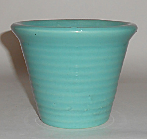 Bauer Pottery 4 Italian Ring Early Jade Flower Pot