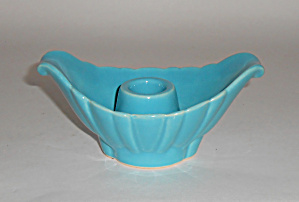 Bauer Pottery Cal-Art Ray Murray Turquoise Candlestick! (Image1)