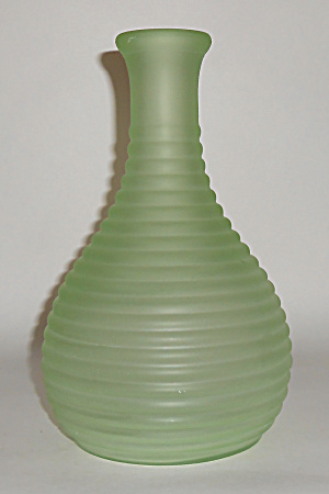 Tiffin Glass Satin Green Frigidaire Jug Mint