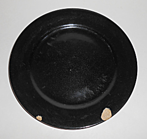 Bauer Pottery Plain Ware Black Lunch Plate