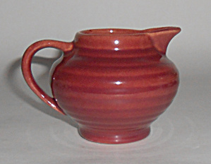 Bauer Pottery Ring Ware Burgundy Demi Creamer Mint