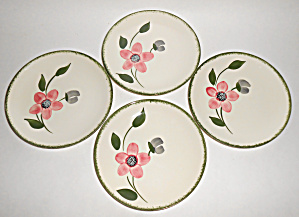 Blue Ridge Pottery Pinkie Set/4 Bread Plates