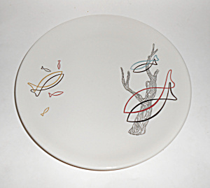 Syracuse China Restaurant Driftwood Fish Dinner Plate