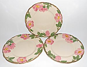 Franciscan Pottery Desert Rose U.S.A. 3 Salad Plates! (Image1)