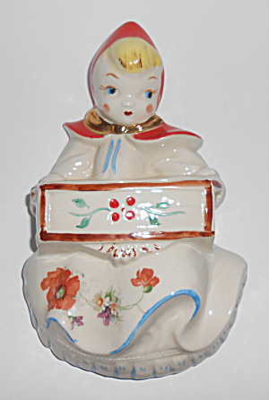 Hull Pottery Little Red Riding Hood Wall Pocket Mint